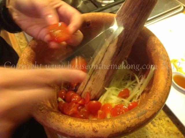 Add cherry tomatoes