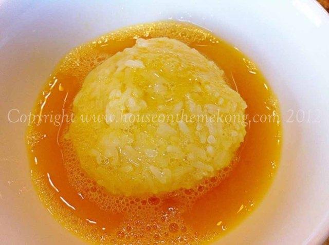 Rice in egg